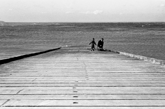 Father and son, Whitstable (UK)