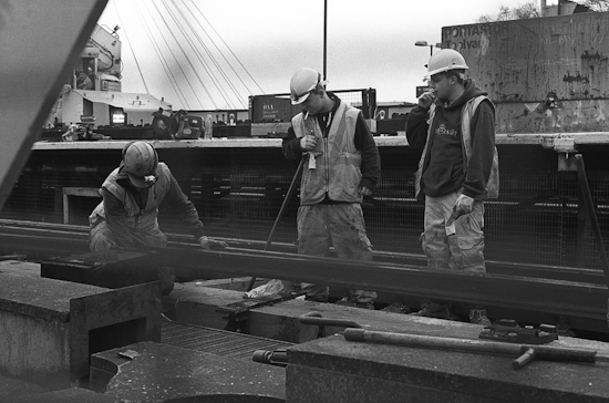 Rail work @ Charing Cross Station, London