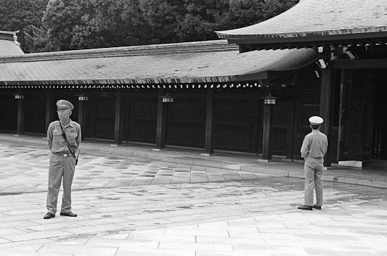 Meiji Shrine guards, Tokyo (Japan)