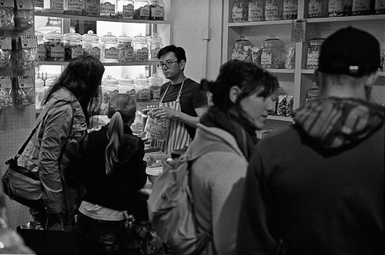 Sweet shop near Covent Garden, London