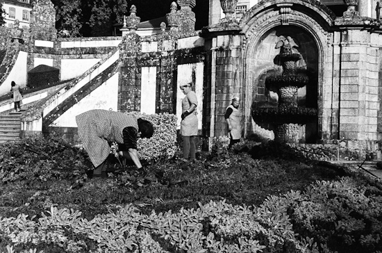 Gardeners in Bom Jesus do Monte, Braga (Portugal)