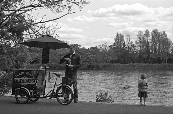 Ice Cream cart on River Thames, London