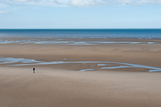 Walking on the beach, Blackpool (UK)