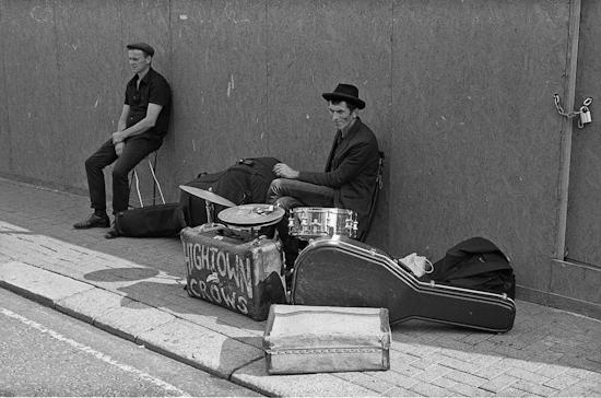 Busking in Portobello, London