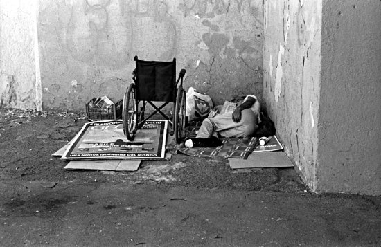 Sleeping rough, Rome