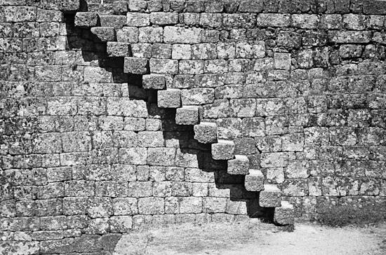 Stairs in Monsanto Castle, Monsanto (Portugal)
