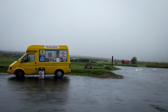 Ice cream on a day out in Dartmoor (UK)