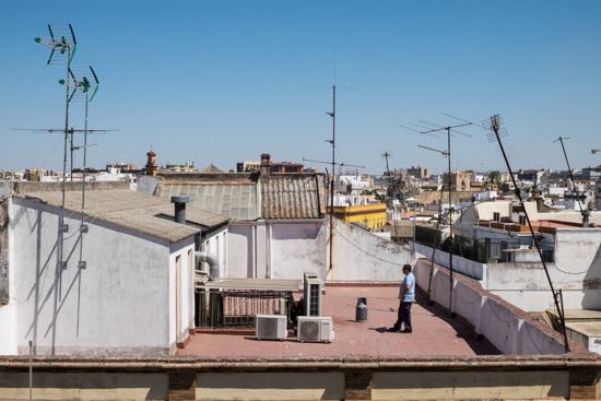 On the roof in Seville (Spain)