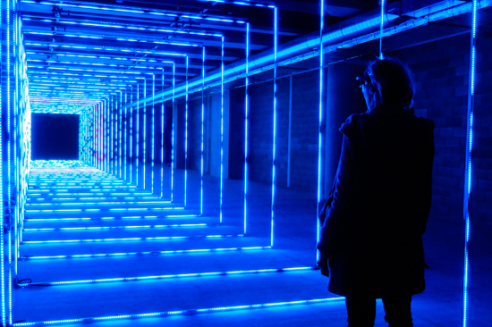 'On Your Wavelength' @ Winter Lights in Canary Wharf, London