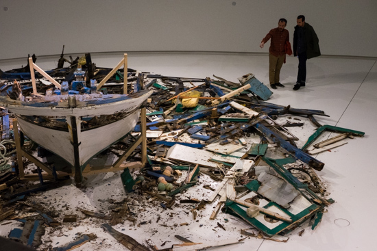 Refugees wreck @ MAAT Exhibition, Lisbon (Portugal)