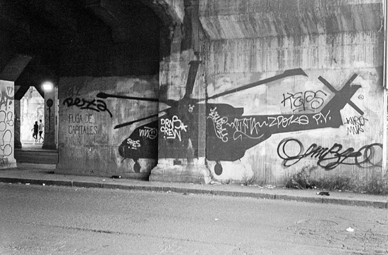 Chopper graffiti, Rome (Italy)