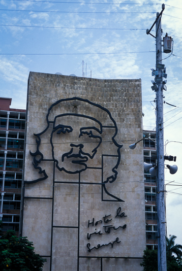 Che Guevara in Plaza de la Revolucioin, Havana (Cuba)