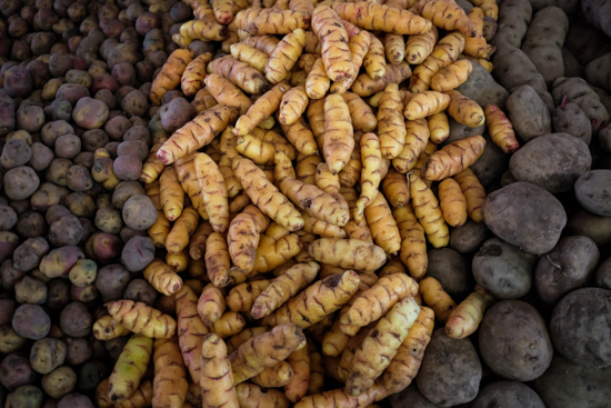 Potatoes at San Pedro Market, Cusco (Peru)