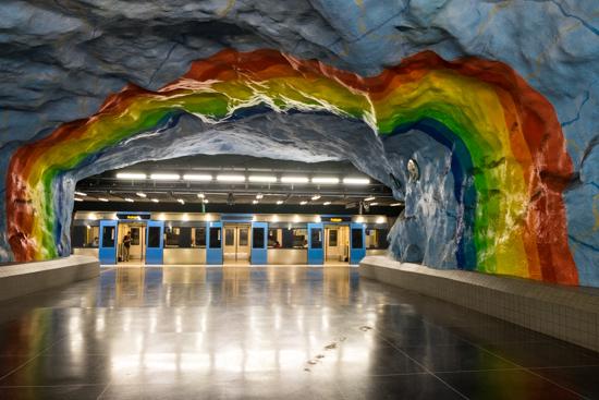 Stadion Tunnelbana Station, Stockholm (Sweden)