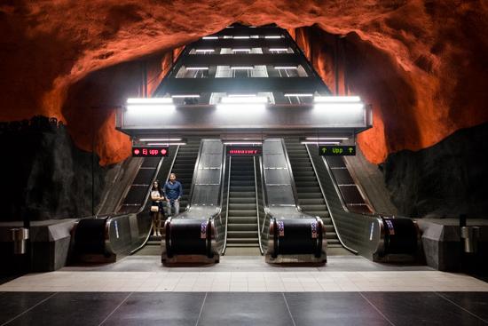 Solna Tunnelbana Station, Stockholm (Sweden)