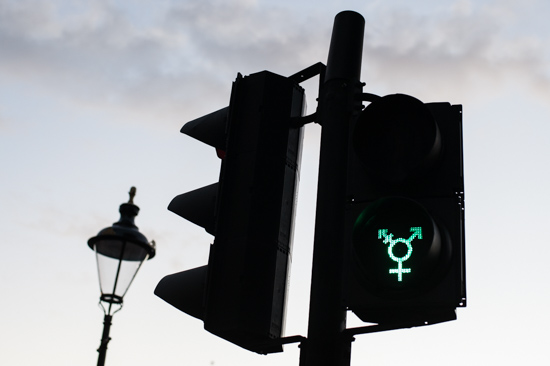 Transgender Traffic Lights, London