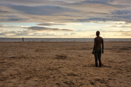 Crosby Beach & 'Another Place', Liverpool (UK)